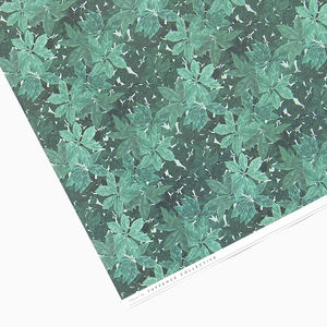 Green Leaf Botanical Wrapping Paper