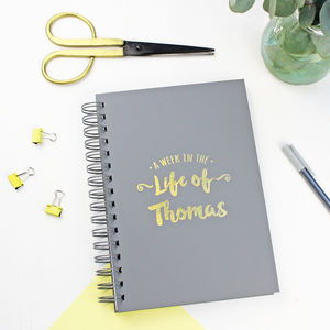 Personalised 'Start Any Date' Weekly Diary - personalised gifts