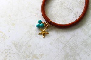 Children's Leather Bracelet With A Starfish Charm - whatsnew