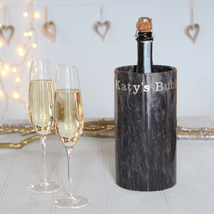 Personalised Prosecco Or Champagne Marble Cooler - best wedding gifts