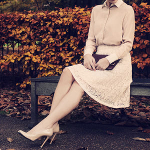 Pure Silk Lace Skirt - women's fashion