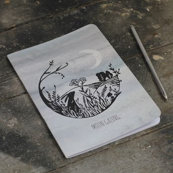 Moon Gazing Hare Notebook