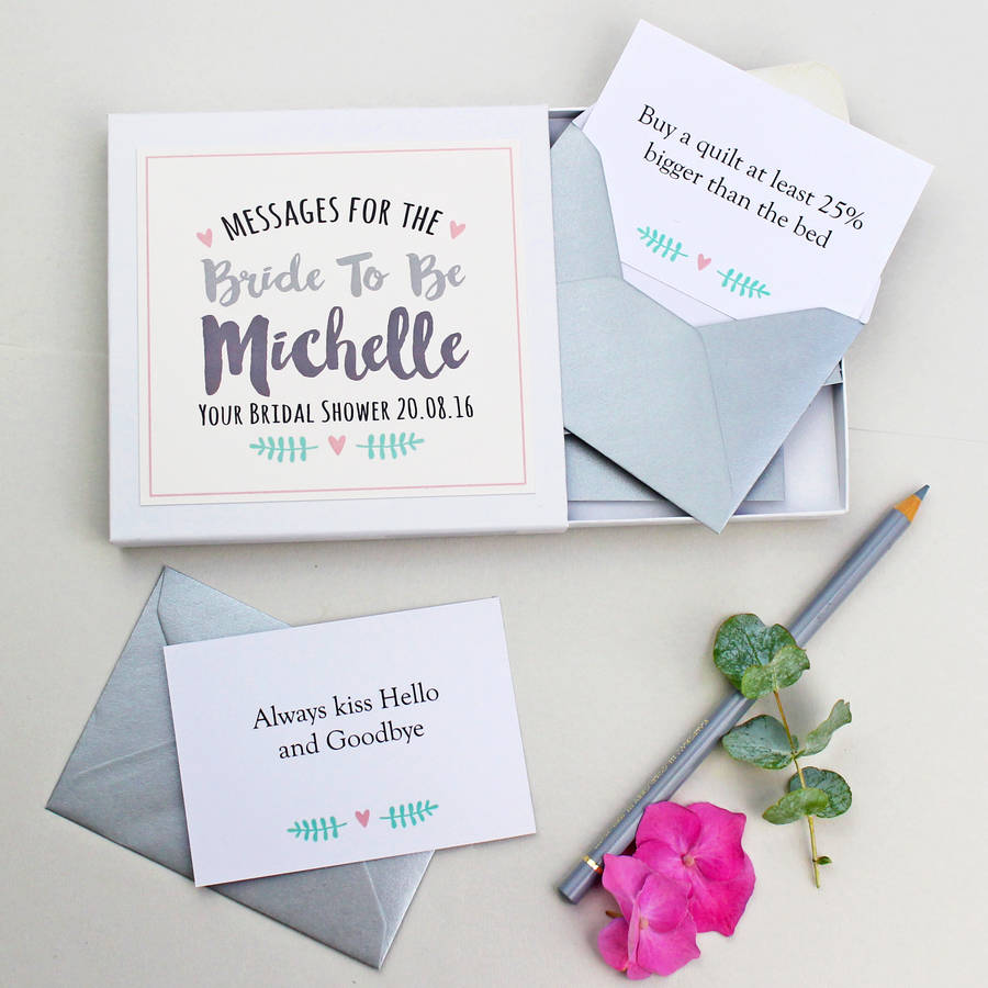 Personalised Messages For The Bride Gift Box