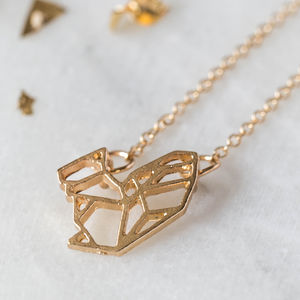 Gold Geometric Squirrel Necklace