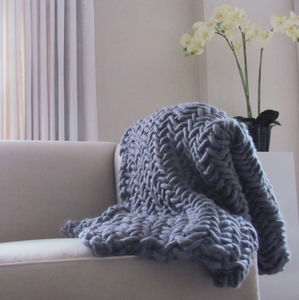 'Alice' Chunky Knit Throw - blankets & throws