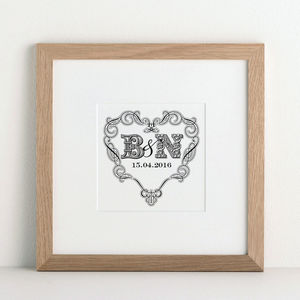 Personalised Heart Print - engagement gifts