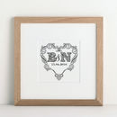 Personalised Wedding Heart Print from Letterfest