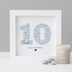 Personalised 10th Birthday Gift - new in prints & art