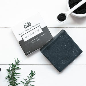 Natural Vegan Black Clay Cleansing Face Soap - handpicked for autumn gifts