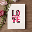 'Love' Letterpress Card