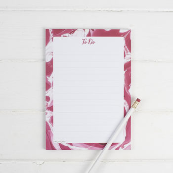 Marble Red Note Pad