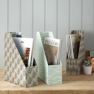 Decorative Magazine File - magazine racks
