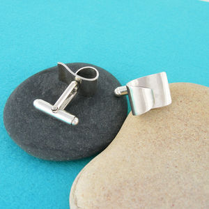 Surfer Wave Silver Cufflinks - whats new