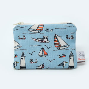 Seaside Small Zip Coin Purse
