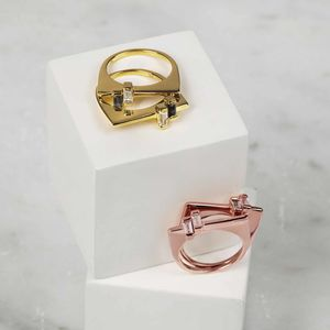 Gold Gemstone Stacking Ring Anais - rings