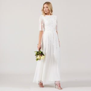 Crisanta Embellished Maxi Dress - wedding dresses
