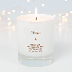 'Make A Wish For A Wonderful Mum' Candle
