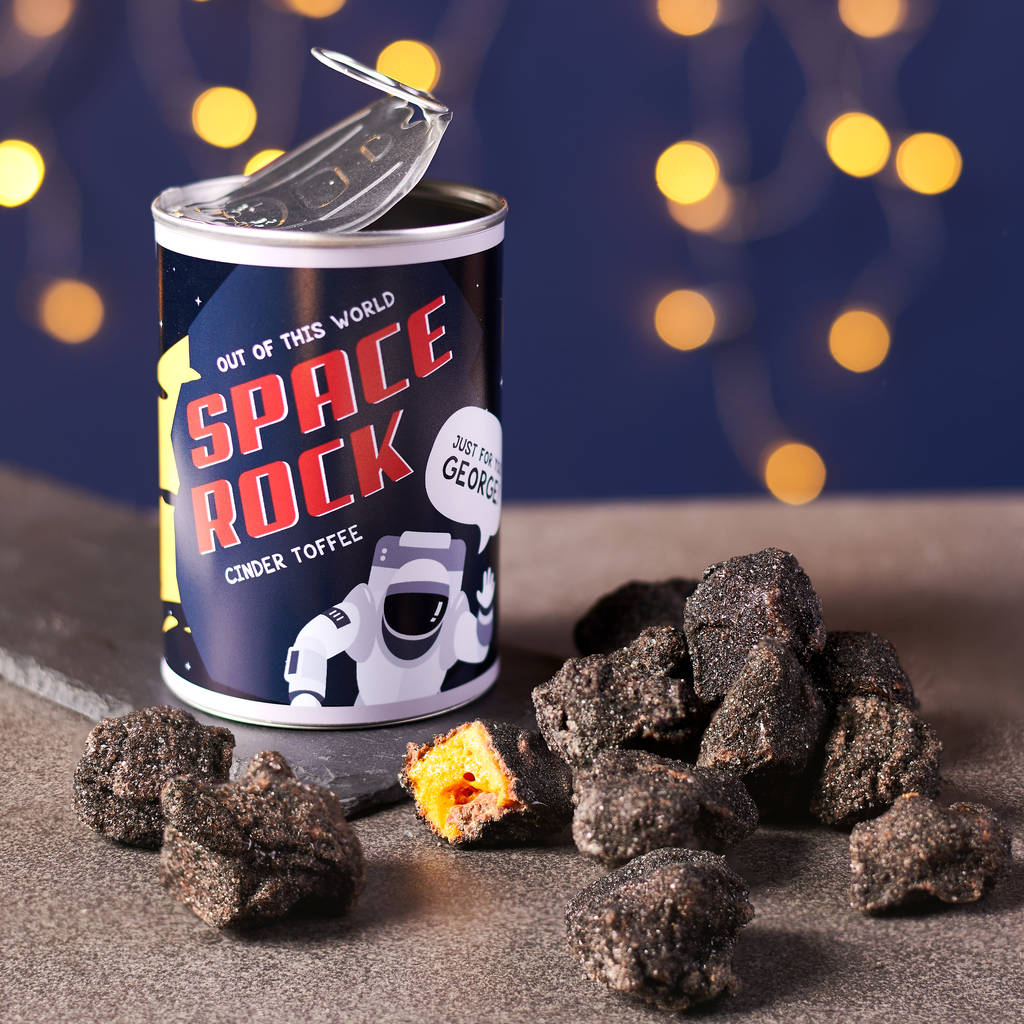 Personalised Chocolate Space Rock In A Can