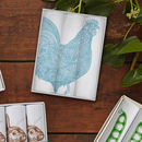 Blue Chicken Hanky Box