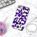 Purple Painterly Personalised Initials iPhone Case