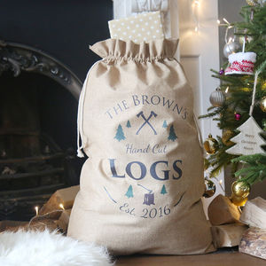 Personalised Family Xmas Sack - what's new