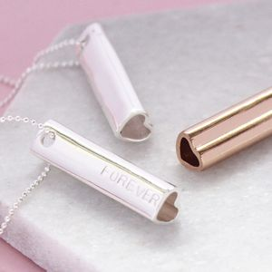 Personalised Heart Bar Necklace - winter sale