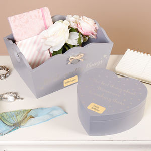 Personalised Memories And Charming Things Trinket Boxes