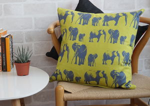 Elephant Family Cushion - cushions