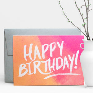 Happy Birthday Painter Greeting Card - summer sale