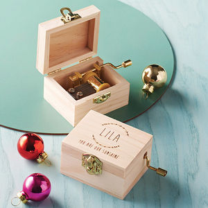 Personalised Music Box - christening gifts