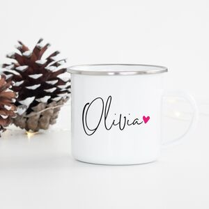 'Signature' Personalised Enamel Mug