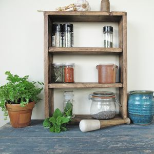 Wooden Spice Rack - shelves