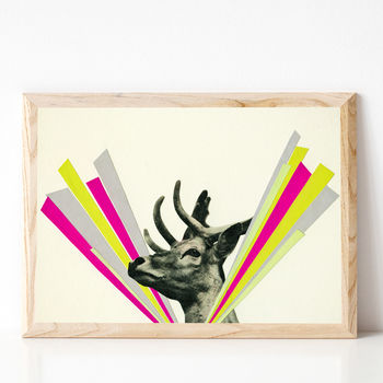 Did I Startle You, Dear? Stag Art Print