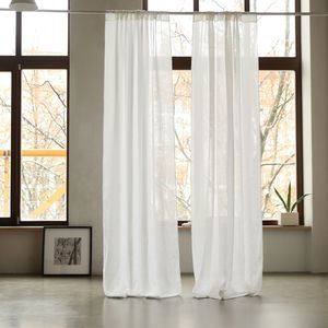 Garza Linen Curtain Panel - soft furnishings & accessories