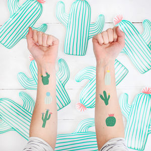 Cactus Temporary Tattoos - wedding favours