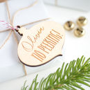 Personalised No Peeking! Gift Tag