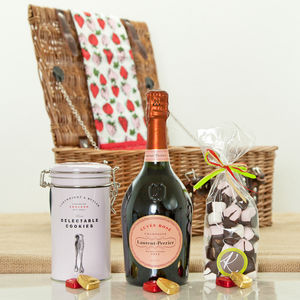 Laurent Perrier Rose Champagne And Sweet Treat Hamper