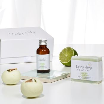 Personalised Gin and Tonic Pamper Collection Gift Set by Lovely Soap Company