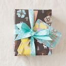Night forest woodland wrapping paper option