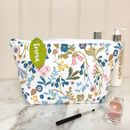 Floral Make Up Bag With Personalised Felt Tag