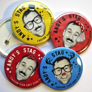 Personalised Stag Do Badges - stag party accessories