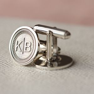 Monogram Cufflinks - gifts for him