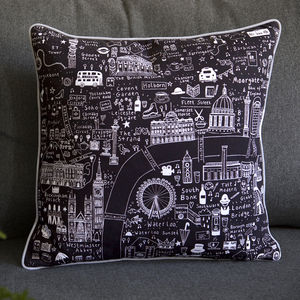 Illustrated London Cushions - cushions