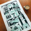 Exeter Typographic Tea Towel