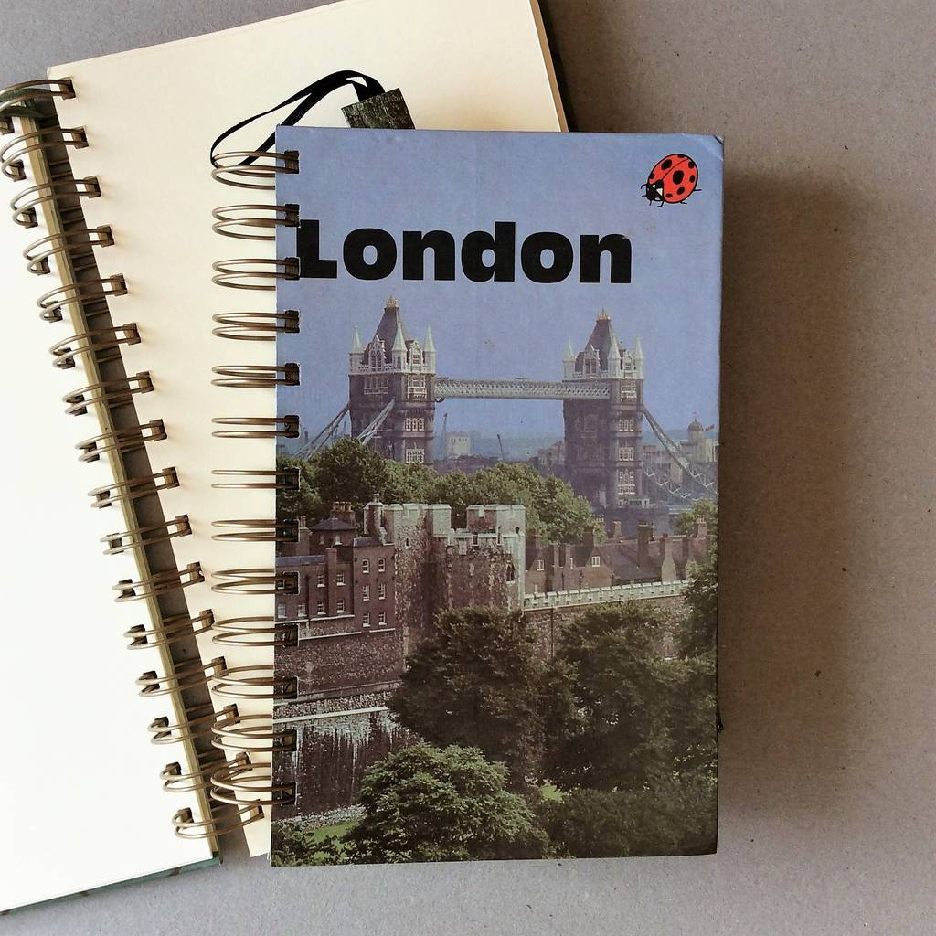 'London' Upcycled Notebook