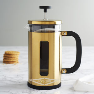 Personalised Faceted Gold Cafetiere - cafetieres & coffee pots