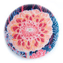 Nancy Silk Covered Compact Mirror