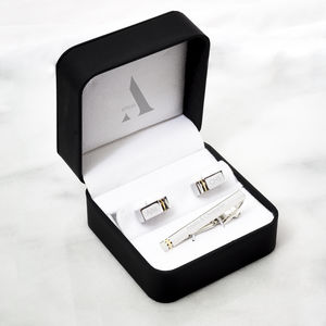 Personalised Zorin Cufflink And Tie Pin Gift Set