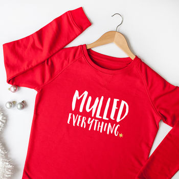 Mulled Everything Organic Christmas Slogan Jumper