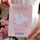 All About Travel Passport Wedding Invitation And RSVP